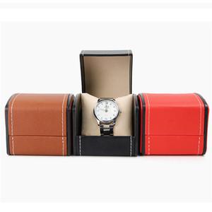 Кожа PU Arc Часы Box ювелирные изделия держатель для хранения Case Single Slot Подарочная коробка для женщин Мужчины 3 Colros