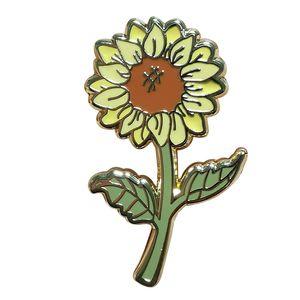 Schöne Sonnenblume Emaillestift perfekte Pflanzenliebhaber eleganten minimalistischen Dekor