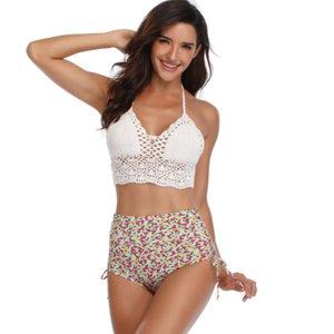2020 nuovo costume da bagno a maglia Bikini Bikini esplosioni lace-up sexy europea di Amazon e costumi da bagno americani