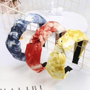 Bohème vintage Tie Dye noeud Bandeau Serre-tête Accessoires Cheveux Jewlry