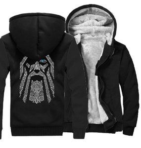 Odin Vikings hoodies for men 2019 new fashion wool liner Camouflage sleeve coats winter sweatshirt raglan print jacket tracksuit Y200601