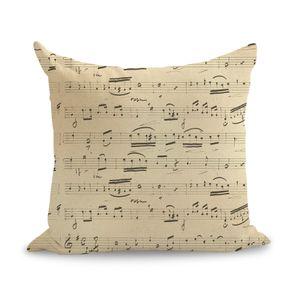 Vintage Newspaper Music Script Notes Pillow Euro Cover Decorative Massager Decorative Pillows Home Decor Gift
