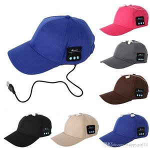 Homens Mulheres Sem Fio Esporte Música Bluetooth Cap Hat Speaker fone de Ouvido Fone De Ouvido Fones De Ouvido Mic E248