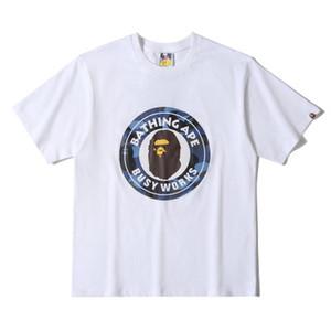 19BAPE hombre del diseñador de camisetas invicto x un baño Simios dirigen mono de algodón camiseta blanca impresa deporte es camisas de guerra camiseta de los hombres