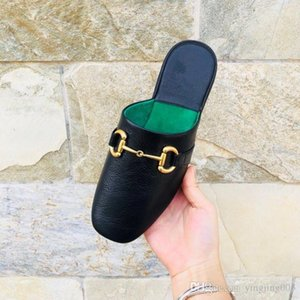 Fashion Luxury Designer Women Shoes Mules Outdoor Fashion Flat Mule Ladies Loafers Womens Summer Slippers Suede Genuine Leather Shoes