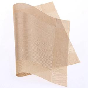 플레이스 매트 다이닝 테이블 매트 직사각형 디스크 패드 그릇 패드 컵 받침 방수 테이블 헝겊 패드 슬립 방지 PVC 패드 4 개 RRA318