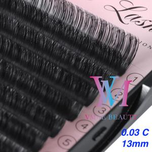 Vmae Private Label 13 millimetri a 15 mm C D Curl Prefanned Volume trucco Ciglia naturale estensione morbida professionale personalizzato False sferza specifica