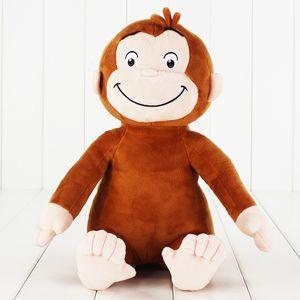 1pcs 30cm Curious George Monkey Plush Stuffed Toy Doll Children Gifts Y200703