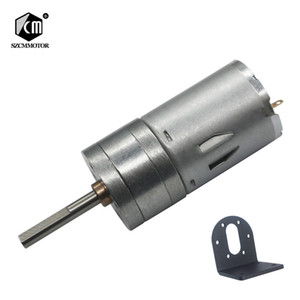 10pcs 16 rpm-1360 rpm micro baixa velocidade da engrenagem do motor pequeno com 25mm * 4mm de comprimento do eixo de saída com Suporte Em Fo