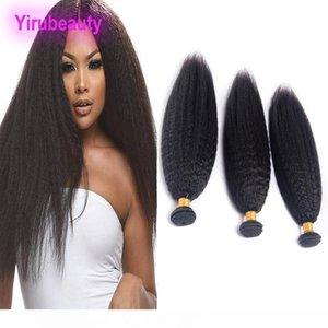 B peruanische natürliche Farbe verworrene gerade Menschenhaar-4 Bundles Hiar Extensions Yaki Straight 8 -28inch Raw Virgin Haar 4 Stück Lot