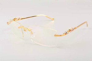 2019 нового ультра легких квадратного леопарда алмаз золото храмовых очки 6384083-1 манекенщица мужских солнцезащитные очки, солнцезащитный козырек