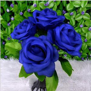 1PC casa della festa nuziale della Rosa Mazzo della seta artificiale di fiori di nozze Festa di fidanzamento casa fai da te Decor