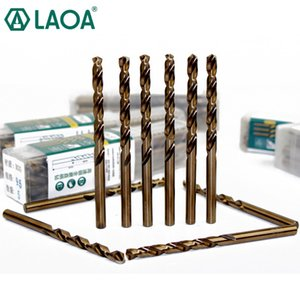 LAOA 5pcs Co Cobalt Steel Include Stainless Steel Twist Drill Bits For Drilling Metal Especial Stainless HRC65