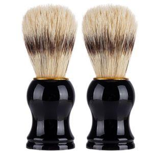 Badger Hair Men's Shaving Brush Barber Salon Men Facial Beard Cleaning Appliance Shave Tool men beard brush Cleaning R0146
