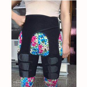 Neoprene Thigh Shaper Support Waist Trainer Heating Sticker Thigh Trimmer Shapewear Adjustable Compression Wrap