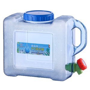 Portable Water Bucket 5L Capacity Driving Pure Water Tank with Faucet Container for Outdoor Camping Cooking Products