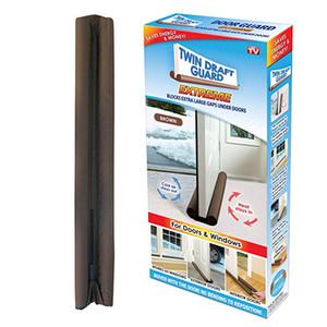 TWIN DRAFT GUARD Energiesparender Zugluftstopper unter der Tür, einzeln, braun Sparen Sie Energie und Geld