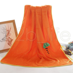 Soft Pineapple Roll Blanket Cute Plush Flannel Fruit Pattern Blankets 80*100CM Home Siesta Children Nursing Shower Wrap TTA1735