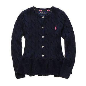 Дети Knit Одежда 2020 Новая осень Cute Pink Flouncing свитер Дети девочки Кардиган для детей Одежда Поло Девочка свитер Top
