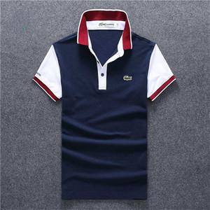 erkekler polo gömlek Ücretsiz nakliye için 2020 Sıcak satmak G G moda erkek yeni yaz kolokasyon yaka Kısa Kollu nakış Casual POLO tişörtleri