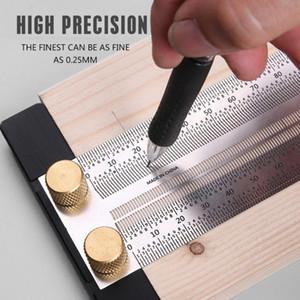 Haute précision T type carré Travail du bois multifonction Règle Scriber mesure de menuiserie Marquage Gauge Outils Carpenter