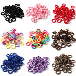 50Pcs Lot New Children Nylon Candy Colors 3CM Rubber Bands Girls Simple Elastic Hair Bands Ponytail Holder Kids Hair Accessories