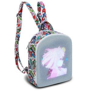 Edison LED Backpack Women's Backpack City Elf LED Display Screen Backpacks Smart WIFI Version APP Control Light Screen Women Bag Ejsjw