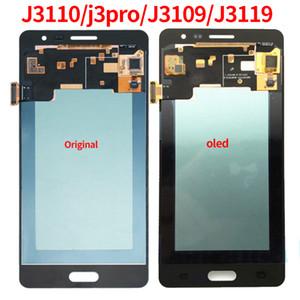 Super AMOLED LCD para Samsung Galaxy J3 pro J3109 J3110 J3119 Pantalla LCD táctil digitalizador reemplazo de la pantalla de ajuste brillante