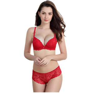 lcw New soft breathable stretch shoulder strap three-breasted small chest push up lace bra suit sexy ladies underwear new products wholesal