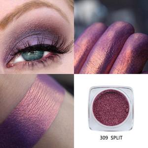 PHOERA Mujer 12 colores Brillo Sombra de ojos Polvo Diamante Labios Ojos sueltos Altamente pigmento Brillo Metálico Cosmético Profesional