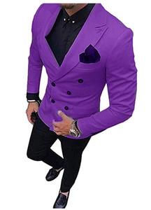 Classic Double-Breasted tuxedos groom wedding men suits mens wedding suits tuxedo costumes de pour hommes men(Jacket+Pants+Tie) W97