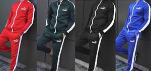 Homens marca 2 peças conjunto de painéis queda roupas de inverno casaco cardigan calças esportes terno moletom leggings roupas outerwear bodysuits 2498
