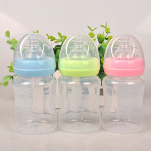 180 ملليلتر الوليد الطفل الرضيع التمريض حليب عصير الفاكهة تغذية المياه القياسية الفم سيليكون الحلمة هوة شرب زجاجة