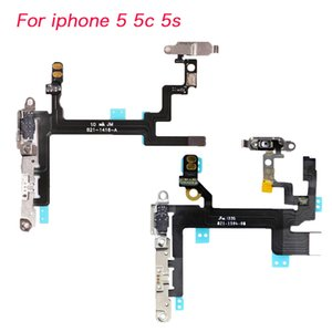 iPhone 5 5c 5s Ein- / Ausschalten Lautstärketasten Lautloses Mikrofon LED-Blitzmodul Cam Flex-Kabel mit Halterungen