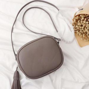 Сумки Кошельки сумки высокого качества Crossbody сумка женская сумка плеча Fringe Plain кисточкой одного плеча Малый квадрат