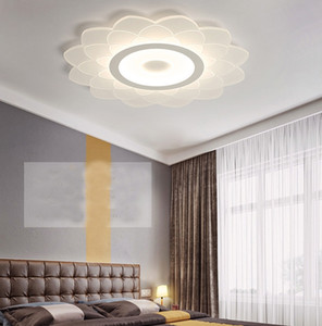 New style living room led chandelier lights modern minimalist acrylic led ceiling lights bedroom pendant lamps
