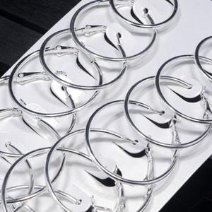 Moda-Kadınlar Kalp Ay Kulak Döngü Kombinasyon Hoop Küpeler Büyük Çember Asma Kulak Studs kolye Brincos Takı