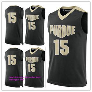 на заказ # 15 Purdue Boilermakers мужчина женщины молодежные баскетбольные майки размер S-5XL любое имя