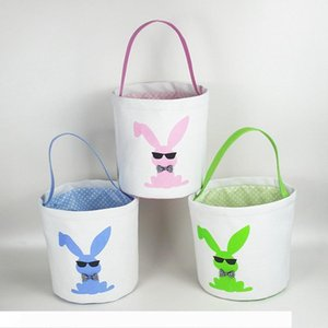 Easter Basket 23*25cm Sequins Rabbit Printed Tote Handbag Storage Bags Cute Easter Candy Bag Party Bags 15 Styles Party Favor OOA7537