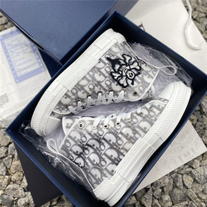 Con Zapatos Caja 19SS-top baja baloncesto B23 triple lujo limitada Hommes Hombres Mujeres clásicas oblicua Zapatos de la zapatilla 36-45
