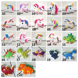 Fontes Dinossauro bonito Pawliss PVC Birthday Party Pulseira Pulseiras para presentes dos miúdos Meninas Emoticon Brinquedos Prêmios Rubber Band Jóias
