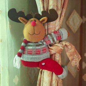 Décorations de Noël Père Noël cerf rideau Boucle Porte-clip Embrasse Afficher la fenêtre Salon de Noël Cadeaux 3 Styles HH7-1933