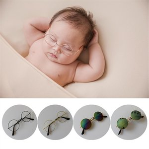 Newborn Baby Photography Props Accessories Infant Pictures Decoration Round Glasses Sunglasses Vintage Photo Prop