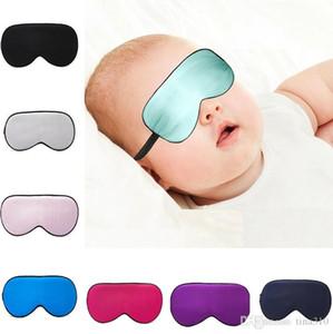 Nuevo bebé Seda resto sueño Eye Mask Shade acolchada cubierta para transporte Relax Sunbloc5097 cubierta del ojo Blindfolds máscara para dormir de ojos cuidado de la belleza Herramientas para niños