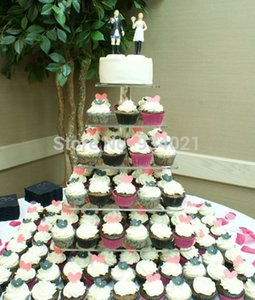 Free Shipping Crystal Cake Stand, 6 Tier Acrylic Cake Stand, Square Cupcake Stand party decoration
