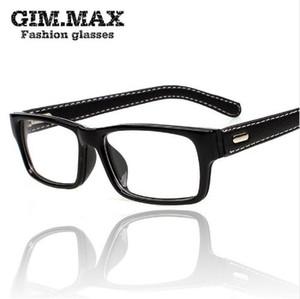 cadre carré gros-Mincl / Gimmax verres de lunettes en cuir vintage noir frampia lunettes en verre clair