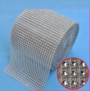 Decoración de la boda 10yard / roll Filas 24 yardas hechos por el hombre diamante abrigo del acoplamiento de la cinta cristalina del Rhinestone del ajuste Wrap brillo bling de la cinta