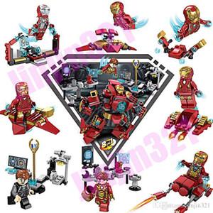 1 Süper Kahraman Avengers Marvel Yapı Taşları İÇİNDE 8 Yeni Uyumlu Ys Marvel Robot Iron Man bebek çocuk Blokları oyuncak bebeklerden