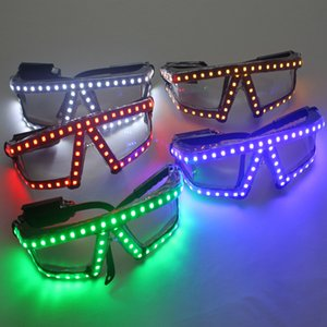 Новая мода Рождество светодиодные очки, лазерный этап реквизит ночной клуб Супер яркие светодиодные очки событие партия поставки