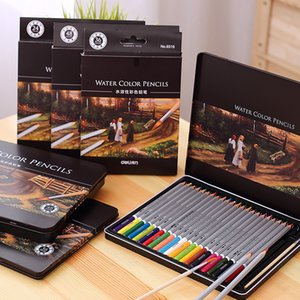 24 36 48 72 Color Colored Pencils Watercolor Pencils Lead Water-soluble Color Pen